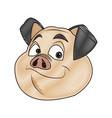pig character farm animal domestic image vector image