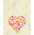 big valentine heart over beige background vector image