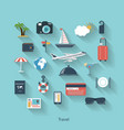 Travel and tourism modern concept in flat design vector image vector image