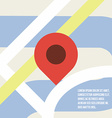 Map pointer icon Flat Design vector image