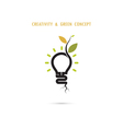 Plant growing inside the light bulb logo vector image