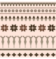 Brown winter ornamental pattern with deer vector image