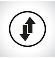 Download and upload symbol in a circle vector image