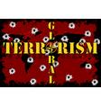 Global terrorism vector image