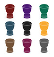 goblet drum icon in black style isolated on white vector image