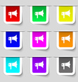 megaphone icon sign Set of multicolored modern vector image