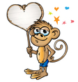 monkey in love vector image