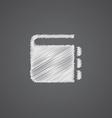 notepad sketch logo doodle icon vector image