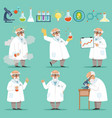 scientist or chemist at his work different vector image