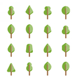 Set of different kinds of trees geometric icons vector image