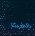 star fantasy dotted vector image