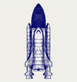 Space ship vector image vector image