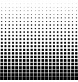 abstract halftone black square on a white vector image vector image