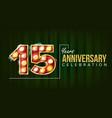 15 years anniversary banner fifteen vector image