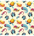seamless pattern with frogs and reptiles vector image vector image