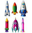Different rocket designs vector image