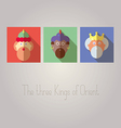 The three Kings of Orient vector image vector image