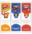 Truck Banners Set vector image vector image