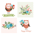 Holiday Clip Art cute owls vector image vector image