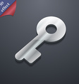 Key icon symbol 3D style Trendy modern design with vector image