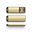 USB Flash Drive Stick Memory Set Isolated vector image