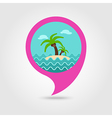 Island palm trees pin map icon Summer Vacation vector image