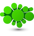 Bubble green infographics design vector image