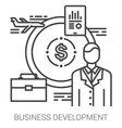 Business development line infographic vector image