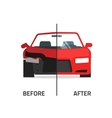 Car body frame repair service crushed and vector image
