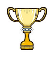 golden trophy cup of the victory team isolated vector image