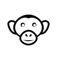 icon monkey head isolated on white background - vector image