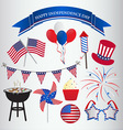 Icons design for 4th of July Independence day vector image
