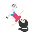 isolated women playing soccer vector image