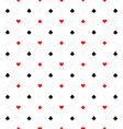 Playing cards signs casino seamless pattern vector image