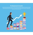 Professional Growth Banner Design vector image