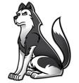 Siberian husky dog vector image
