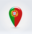 Portugalian icon point for map vector