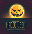 evil halloween ghost on moon background vector image