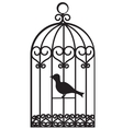 bird cage vector image