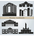 Nicosia landmarks and monuments vector image vector image