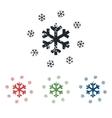 Snowflakes grunge icon set vector image
