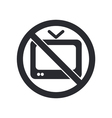 forbidden tv icon vector image