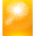Sunshine background orange poster vector image