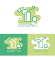 Cocktail logo concept design vector image