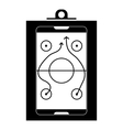 Game plan icon simple style vector image