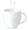Mug isolated on white vector image