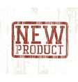 new product stamp vector image