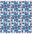 Seamless Geometric Square Pattern in Blue vector image