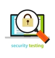 security testing software development process vector image
