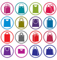 Shopping back icons isolated on white background vector image